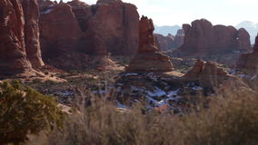Arches National Park Monument Push stock video footage