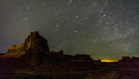 Arches National Park at night Royalty Free Stock Photos