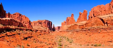 Arches National Park panorama Royalty Free Stock Photo