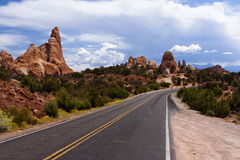 Arches National Park Road Royalty Free Stock Photos
