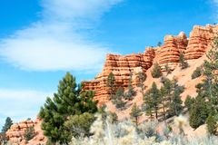 Arches National Park, Rocks Red Desert Mountain Landscape stock photo