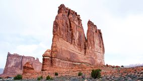 Arches National Park, Rocks Red Desert Mountain Landscape. Red Rocks at Arches National Park, Moab, Utah, Landscape with Blue Sky stock images