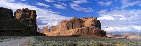 Arches National Park, from Route 191, Utah, USA Royalty Free Stock Images
