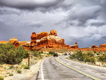Arches National Park, Scenic Road Stock Photo