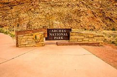 Arches National Park Sign Royalty Free Stock Images