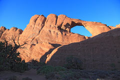 Arches National Park. Skyline Arch at dusk in Arches National Park Royalty Free Stock Image