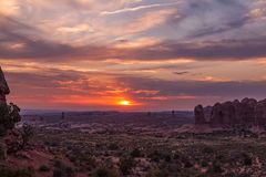 Arches National Park Sunset Stock Image