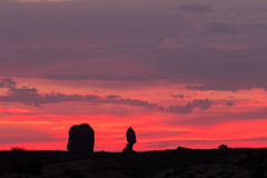 Arches National Park Sunset Stock Photography