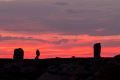 Arches National Park at Sunset Stock Image