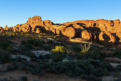 Arches National Park Sunset Royalty Free Stock Photos