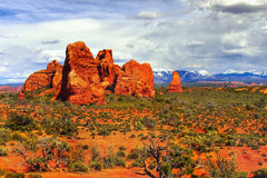 Arches National Park Sunset, Utah Royalty Free Stock Photo