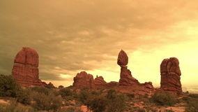 Arches National Park Time Lapse - Clip 1. Time Lapse of Clouds and Rock Formations Arches National Park, Utah.  Shot with a Sony EX3 stock video footage