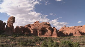 Arches National Park - Time Lapse. Time lapse of rock formation in Arches National Park stock footage