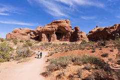 Arches National Park Trail Royalty Free Stock Image