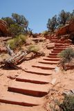 Arches National Park Trail. Arches National Park in Utah Trail, USA stock image
