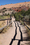 Arches National Park. Trail to Delicated Arches at everning royalty free stock images