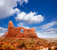 Arches National Park Turret Arch in Utah USA Stock Photo