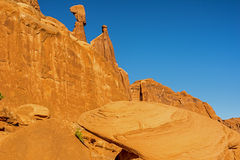 Arches National Park. Is a US National Park in eastern Utah fifth avenue district Royalty Free Stock Photography
