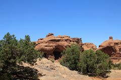 Arches National Park. In USA Stock Photo