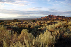 Arches National Park in Utah. Scenic sunrise in Arches National Park in Utah USA Royalty Free Stock Photo