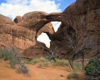 Arches National Park, Utah. Landmark sandstone arches in Arches National Park, Moab, Utah, USA Stock Photos