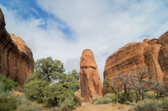 In The Arches National park, Utah. Scenic Devils Garden area l in The Arches National park, Utah Stock Photography