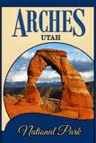 Arches National Park Utah, Travel Concept Background stock illustration