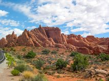 Arches National Park, Utah, U.S.A. royalty free stock images