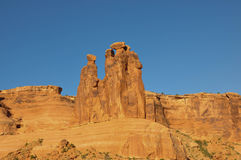 Arches National Park;  Utah; Usa;. The three gossips in the Arches National Park;  Utah; Usa Royalty Free Stock Image