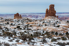 Arches National Park in Utah. A winter time shoot Stock Photography