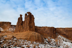 Arches National Park in Utah. A winter time shoot Royalty Free Stock Photography