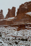 Arches National Park in Utah. A winter time shoot Royalty Free Stock Photo