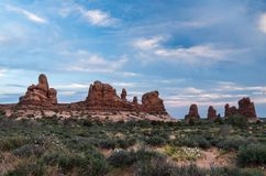 Arches National Park. View at the Arches National Park Royalty Free Stock Photo
