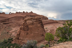 Arches National Park. View at the Arches National Park Royalty Free Stock Image
