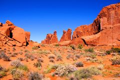 Arches National Park view Royalty Free Stock Photo