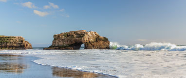 Panorama of Natural Bridges State Beach Royalty Free Stock Photo