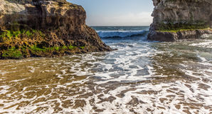 Waves at Natural Bridges State Beach Royalty Free Stock Photography