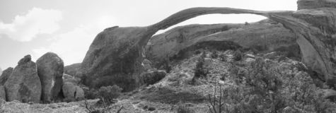 Arches Natural Park: Landscape Arch royalty free stock image