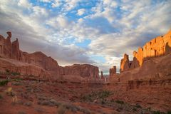 Arches NP. Evening in the Arches National park, Utah, USA Royalty Free Stock Image