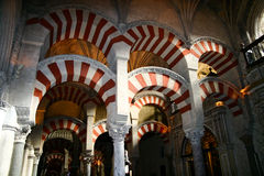 Arches Of The Mezquita Royalty Free Stock Photo