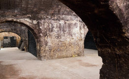 Arches of old  cellar Stock Images