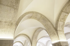 Arches in an old church Royalty Free Stock Photo