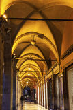 Arches in old town of  Bologna Royalty Free Stock Image