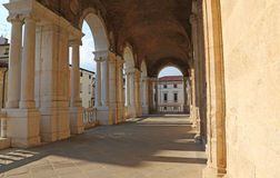 Arches of the Palladian Basilica the great public monument of th. Corridor of the Porch of the Palladian Basilica the great public monument of the city of Stock Photography