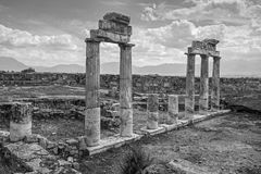 Arches in Pamukkale royalty free stock photography