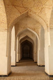 Arches. Passageway in a medrese of bukhara, uzbekistan royalty free stock images