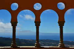 Arches of the Pena National Palace Stock Photo