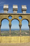 Arches of Pena palace Stock Image