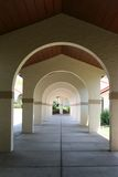 Arches With Perspective Depth royalty free stock photos