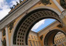 Arches of Petersburg. Arch of the Joint Staff in Saint Petersburg Stock Photos